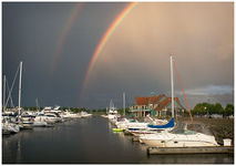 Double Rainbow at Racine's Reefpoint Marina by Carol Hansen