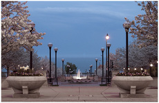 Sam Johnson Parkway and Laurel Clark Fountain by Carol Hansen